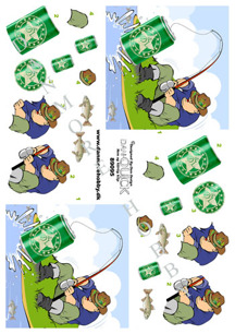 Dan-Quick 3D Klippark - Fiskare - Dan-Quick 3D Klippark - Fiskare