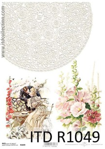 Itd Collection - Rice decoupage paper R1049 A4 - Itd Collection - Rice decoupage paper R1049 A4
