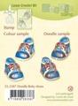 LeCreà Doodle stamps - Doodle Baby shoes