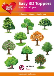 Easy 3D utstansat – Trees - Easy 3D utstansat – Trees