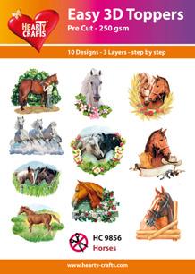 Easy 3D utstansat – Horses - Easy 3D utstansat – Horses