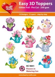 Easy 3D utstansat – Flowers in Watering Can - Easy 3D utstansat – Flowers in Watering Can