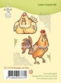 LeCreà Clearstamps - Rooster & Hen