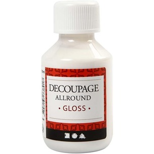 Decoupagelack Allround Gloss, 100 ml - Decoupagelack Allround Gloss, 100 ml