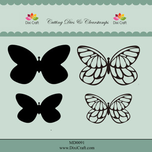 Dixi Craft Dies & Clearstamps – Butterflies - Dixi Craft Dies & Clearstamps – Butterflies