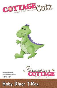 Cottage Cutz Dies - Baby Dino - T-Rex - Cottage Cutz Dies - Baby Dino - T-Rex