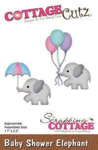 Cottage Cutz Dies - Baby Shower Elephant - Cottage Cutz Dies - Baby Shower Elephant