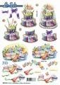 Le Suh 3D Utstansat - Födelsedagskakor