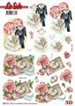 Le Suh 3D Utstansat - Bröllopsmotiv