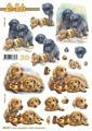Le Suh 3D Utstansat - Labrador m nalle