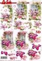 Le Suh 3D Klippark - Blommor vid dörr