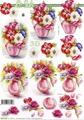 Le Suh 3D Klippark - Blommor i vas