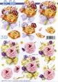 Le Suh 3D Klippark - Blommor m rosett