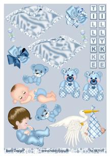 Barto Design Klippark - Babymotiv, kille - Barto Design Klippark - Babymotiv, kille