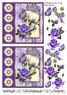Barto Design 3D Klippark - Blommotiv, lila - Barto Design 3D Klippark - Blommotiv, lila