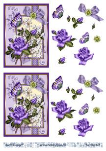 Barto Design 3D Klippark - Blommor, lila - Barto Design 3D Klippark - Blommor, lila