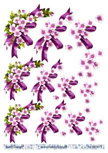 Barto Design 3D Klippark - Blommor m rosett - Barto Design 3D Klippark - Blommor m rosett