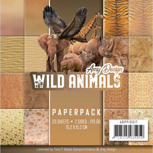 Amy Design Pappersblock - Wild Animals - Amy Design Pappersblock - Wild Animals