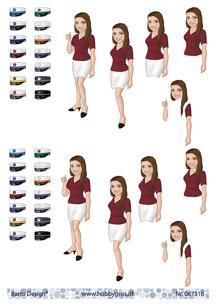 Barto Design 3D Klippark - Studentmotiv, tjej - Barto Design 3D Klippark - Studentmotiv, tjej