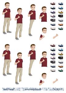 Barto Design 3D Klippark - Studentmotiv, kille - Barto Design 3D Klippark - Studentmotiv, kille