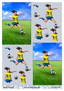 Barto Design 3D Klippark - Fotbollsspelare, tjej - Barto Design 3D Klippark - Fotbollsspelare, tjej