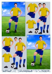 Barto Design 3D Klippark - Fotbollsspelare, kille - Barto Design 3D Klippark - Fotbollsspelare, kille