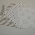 Gummiapan papperspack - Ljus grå 5 ark