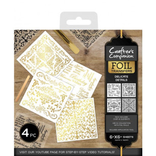 Crafter's Companion Foil Transfers - Delicate Details - Crafter's Companion Foil Transfers - Delicate Details