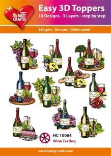Easy 3D Utstansat - Wine Tasting - Easy 3D Utstansat - Wine Tasting