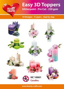 Easy 3D Utstansat - Candles - Easy 3D Utstansat - Candles