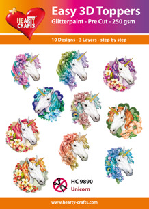 Easy 3D Utstansat - Unicorn - Easy 3D Utstansat - Unicorn