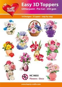 Easy 3D Utstansat - Flowers - Deco - Easy 3D Utstansat - Flowers - Deco
