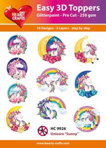 Easy 3D Utstansat - Unicorn