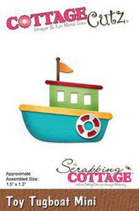 Cottage Cutz Dies - Tug Toyboat mini - Cottage Cutz Dies - Tug Toyboat mini