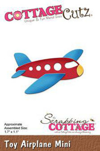 Cottage Cutz Dies - Toy Airplane mini - Cottage Cutz Dies - Toy Airplane mini