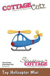 Cottage Cutz Dies - Toy Helicopter mini - Cottage Cutz Dies - Toy Helicopter mini
