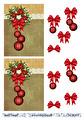 Barto Design - 3D Klippark - Krans med julgranskulor