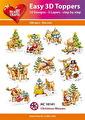 Easy 3D utstansat - Christmas Mooses