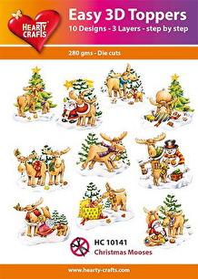 Easy 3D utstansat - Christmas Mooses - Easy 3D utstansat - Christmas Mooses