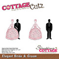 Cottage Cutz Dies - Elegant Bride & Groom