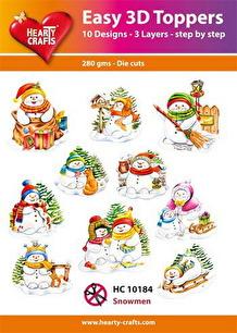 Easy 3D utstansat - Snowmen - Easy 3D utstansat - Snowmen