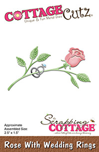 Cottage Cutz Dies - Rose with Wedding Rings - Cottage Cutz Dies - Rose with Wedding Rings