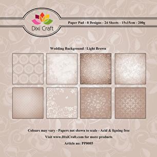 Dixi Craft Pappersblock - Wedding Background - Dixi Craft Pappersblock - Wedding Background