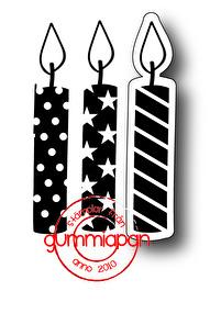 Gummiapan Dies + Stämpel  – Ljus med olika mönster - Gummiapan Stämplar & Dies – Ljus med olika mönster