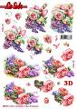 Le Suh 3D Utstansat - Blommotiv