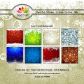 Dixi Craft Pappersblock - Snow Chrystal Background