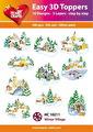 Easy 3D Utstansat - Winter Village