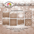 Dixi Craft Pappersblock - Snow Crystal Background - Brown
