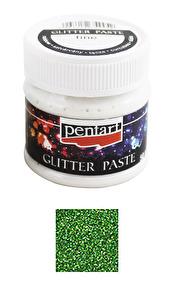 Pentart - Fine Glitter Paste - Green, 50 ml - Pentart - Fine Glitter Paste - Green, 50 ml
