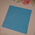 Kuvert, 10 st - 15x15cm - Blå